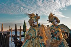 Wenecja karnawał, portret maska podczas Weneckiego karnawału w całym mieście tam, jest cudownymi maskami obrazy royalty free
