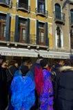 Wenecja karnawału ulicy Fotografia Royalty Free