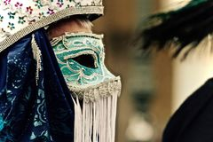 Wenecja karnawał Paricipant Obraz Royalty Free