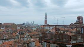 Wenecja: Kopuły i kościół Fotografia Stock