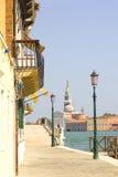 Wenecja. Lampiony na quay. Zdjęcia Royalty Free