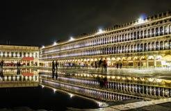 Wenecja miasto nocą Zdjęcia Royalty Free