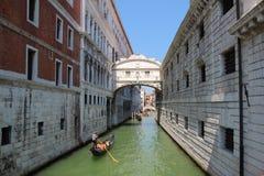 Wenecja, most westchnienia Zdjęcie Royalty Free