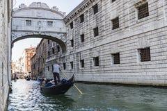 Wenecja most westchnienia Obrazy Stock