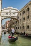 Wenecja most westchnienia Zdjęcie Stock