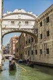 Wenecja most westchnienia Fotografia Royalty Free