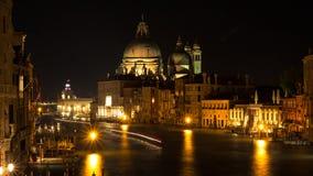 Wenecja most z korytkowymi widokami obraz royalty free