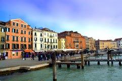Wenecja nabrzeże Obraz Royalty Free
