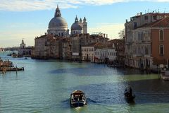 Wenecja nabrzeża budynki Obraz Royalty Free