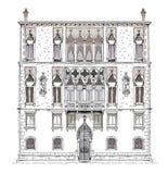 Wenecja nakreślenia kolekcja, hotel, szczegółowa ilustracja Zdjęcie Stock