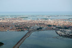 Wenecja, Od powietrza Obraz Stock