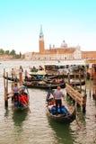 Wenecja łodzie Zdjęcie Royalty Free