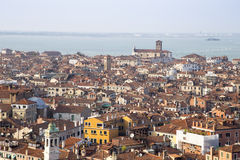 Wenecja pejzażu miejskiego widoku miasta sławni starzy budynki w Włochy Fotografia Stock