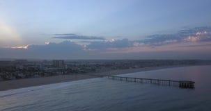 Wenecja plaża w Los Angeles przy wschodem słońca zbiory
