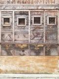Wenecja - stara drewniana żaluzja zdjęcia royalty free