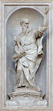 Wenecja - statua Saint Paul 1738, 1755 od kościelnego Santa Maria del Rosario Giovan Maria Morlaiter) (Chiesa dei Gesuati) (- Obrazy Royalty Free