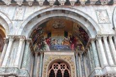 Wenecja, szczegół byzantine mozaika St Mark bazylika Zdjęcie Stock