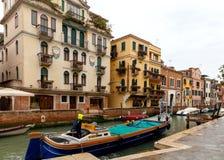 Wenecja tła czarny ikon linie świecąca setu transportu wektoru woda Zdjęcia Stock