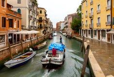 Wenecja tła czarny ikon linie świecąca setu transportu wektoru woda Fotografia Royalty Free