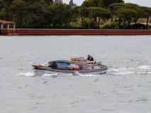 Wenecja tła czarny ikon linie świecąca setu transportu wektoru woda Obrazy Royalty Free