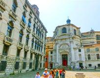Wenecja Włochy, Czerwiec, - 06, 2015: Ludzie na ulicie w Wenecja, Włochy Zdjęcia Stock
