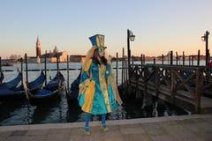 WENECJA Włochy, LUTY, - 24, 2014: Karnawał w Wenecja - jeden popularny karnawał w Europa Obrazy Royalty Free