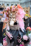 WENECJA Włochy, LUTY, - 24, 2014: Karnawał w Wenecja - jeden popularny karnawał w Europa Zdjęcia Royalty Free
