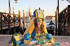 WENECJA Włochy, LUTY, - 24, 2014: Karnawał w Wenecja - jeden popularny karnawał w Europa Fotografia Stock