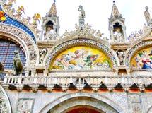 Wenecja Włochy, Maj, - 04, 2017: Szczegół St Mark bazylika Obrazy Stock