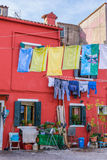 Wenecja Włochy, Październik, - 29, 2016: Burano wyspa Fotografia Royalty Free