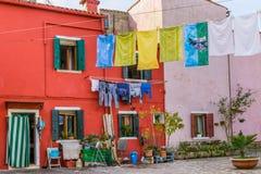 Wenecja Włochy, Październik, - 29, 2016: Burano wyspa Zdjęcia Royalty Free
