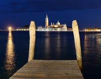 Wenecja, Włochy przy nocą Zdjęcia Royalty Free