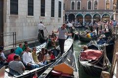 Wenecja, Włochy: Sierpień 31, 2014 ruch drogowy Venice Zdjęcie Stock