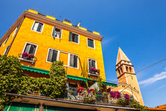 WENECJA WŁOCHY, SIERPIEŃ, - 21, 2016: Sławni architektoniczni zabytki Lido wyspa na Sierpień 21, 2016 w Wenecja, Włochy Zdjęcie Royalty Free