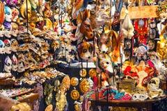 25 04 2017 Wenecja, Włochy Wśrodku tradycyjnego maska sklepu w Veni Obraz Stock