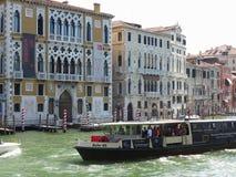 20 06 2017, Wenecja, Włochy: Widok historyczni budynki i kanały Zdjęcie Royalty Free