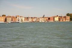 Wenecja, Włochy, widzieć od laguny Grand Canal, brzeg siedem męczenników fotografia royalty free