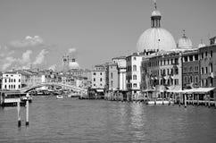 Wenecja w czarny i biały Obraz Royalty Free