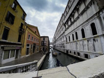 Wenecja w Maja Markotnym niebie fotografia royalty free