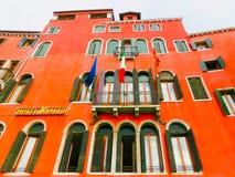 Wenecja Włochy, Maj, - 04, 2017: Włochy, Wenecja Hotelowy kantor Zdjęcia Royalty Free
