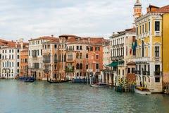 Wenecja widok na jaskrawym Obrazy Royalty Free