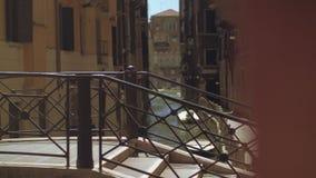 Wenecja widok z mostem przez kanał, Włochy zdjęcie wideo