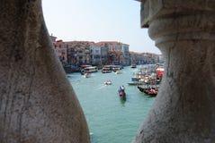 Wenecja widoki Granu kanał bridżowy kantor obraz stock