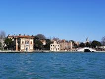 Wenecja wiosną, dokami i lagunami, 6 Zdjęcie Stock