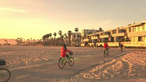 Wenecja wyrzucać na brzeg, Snata Monica, Kalifornia, usa - Marzec 29, 2017: Wenecja wyrzucać na brzeg, Snata Monica, Kalifornia,  zdjęcie wideo