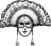 Wenecka maska Zdjęcia Royalty Free