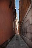Wenecka ulica - Akcyjna fotografia Obraz Royalty Free