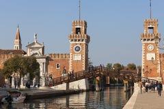 Wenecki arsenał, kompleks poprzednie stocznie i zbrojownie, Wenecja, Włochy Obraz Stock