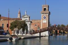 Wenecki arsenał, kompleks poprzednie stocznie i zbrojownie, Wenecja, Włochy Zdjęcie Royalty Free