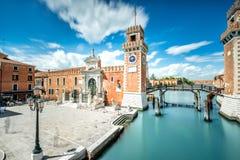 Wenecki arsenał w Wenecja obrazy royalty free